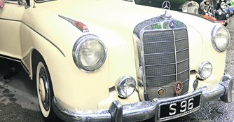 An example of a car with a car plate number of S