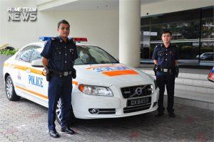 Police Car Plate
