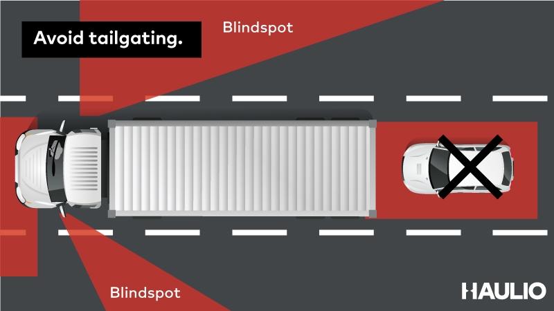 Avoid tailgating.