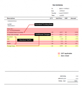 Example of a Trucking Invoice