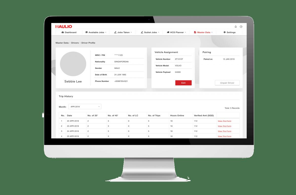 Haulage Operations Platform - Driver Management Page