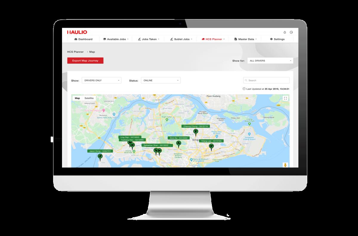 Haulage Operations Platform - GPS Map