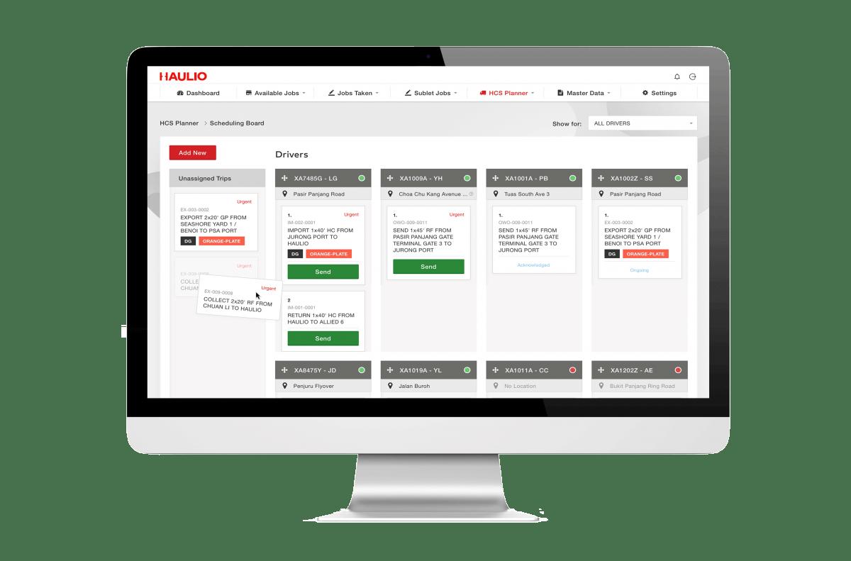 Haulage Operations Platform - Job Scheduling Board