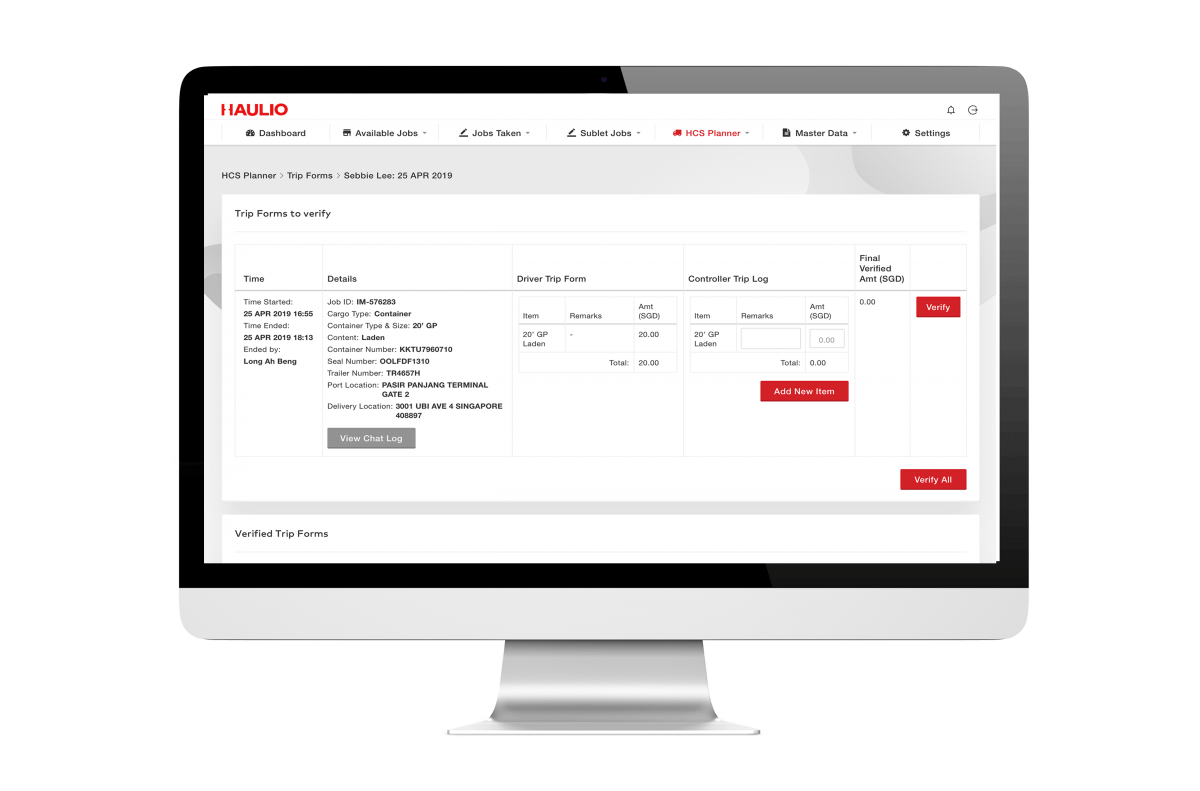 Haulage Operations Platform - Trip Forms Review