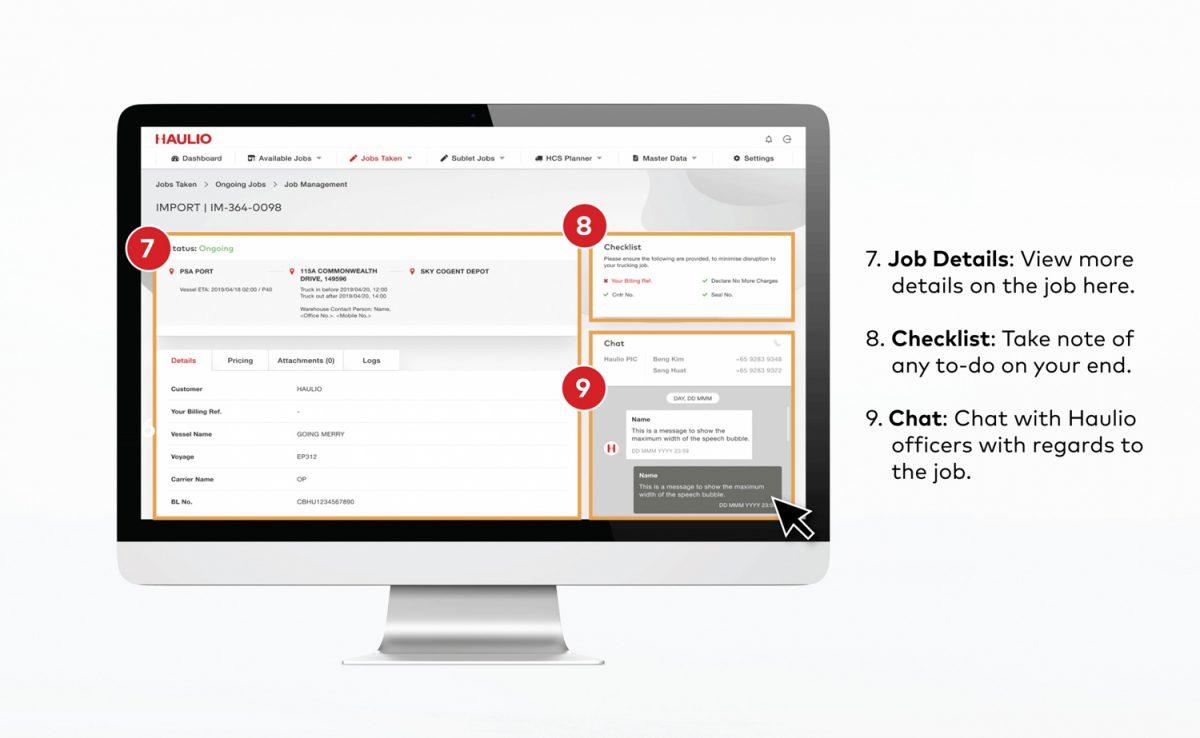 HOP - View Job Details of Jobs Taken