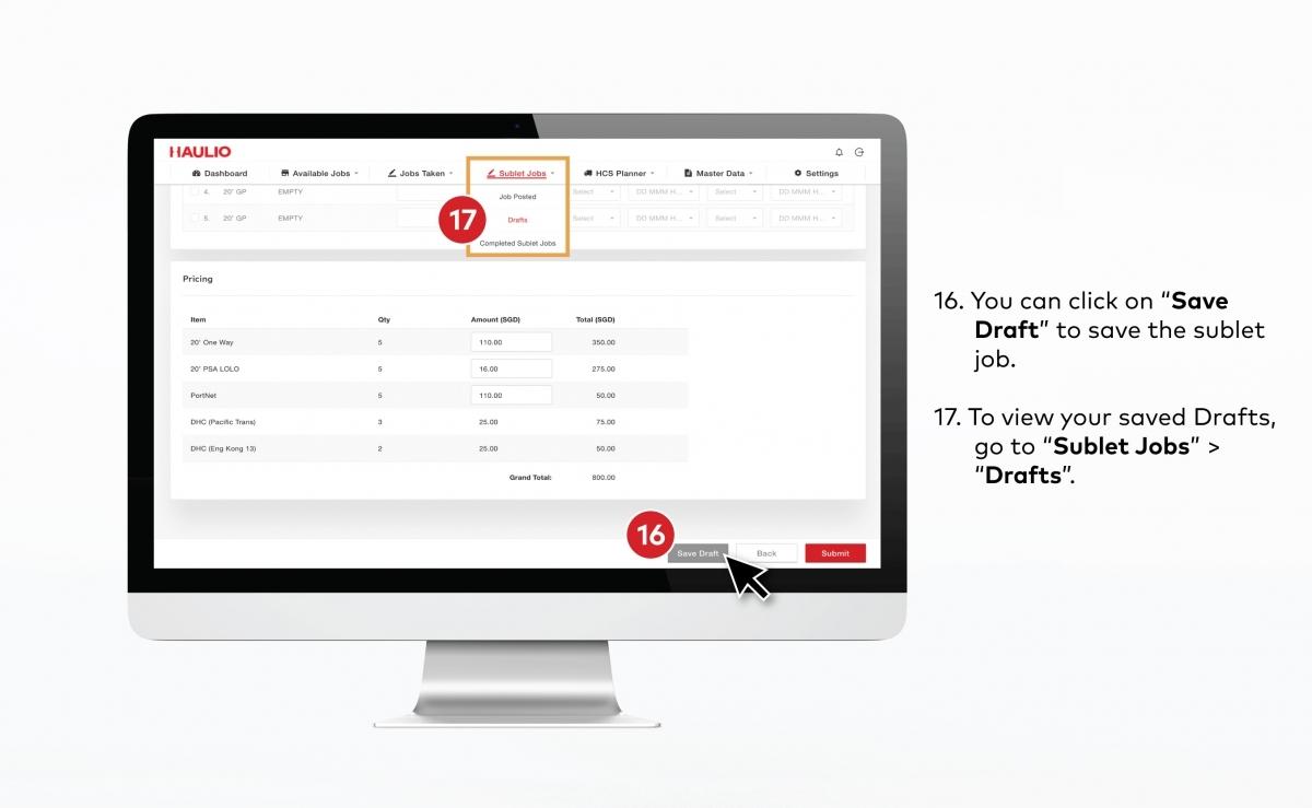 HOP - Sublet Job Save Draft