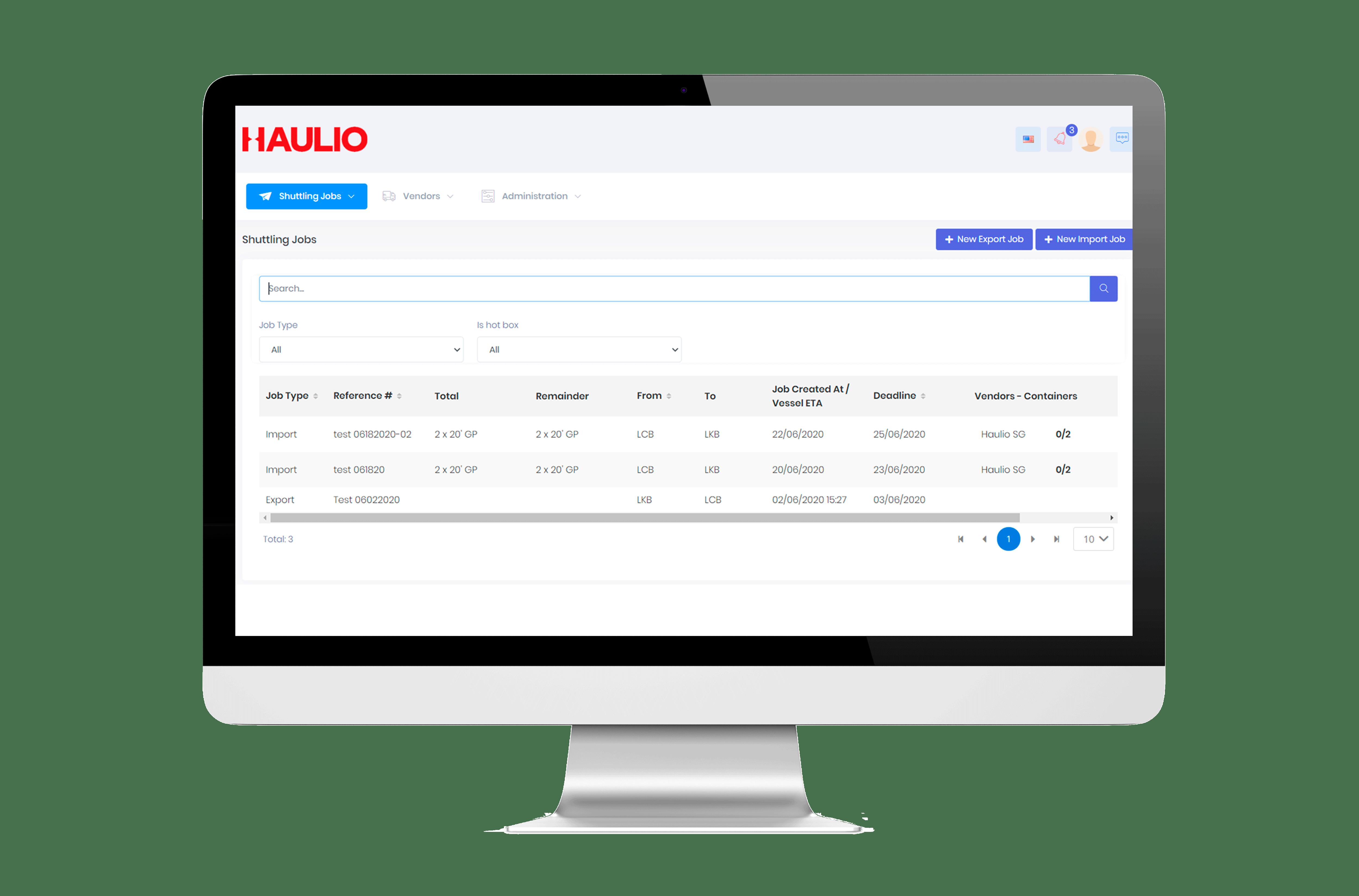 Haulio TH Vendor Management System